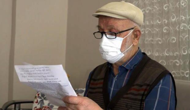Aşı vurulmaya ikna olan Mehmet amcadan Erdoğan'a 4 kıtalık şiir